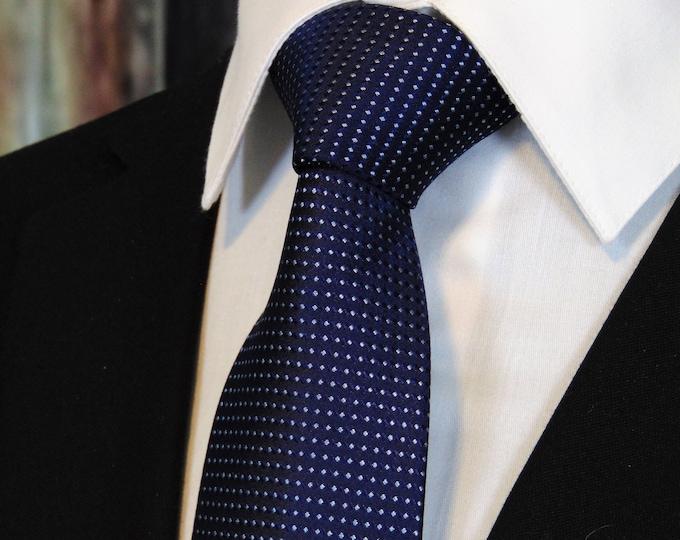 Navy Neck Tie – Mens Navy Blue Tie 100%