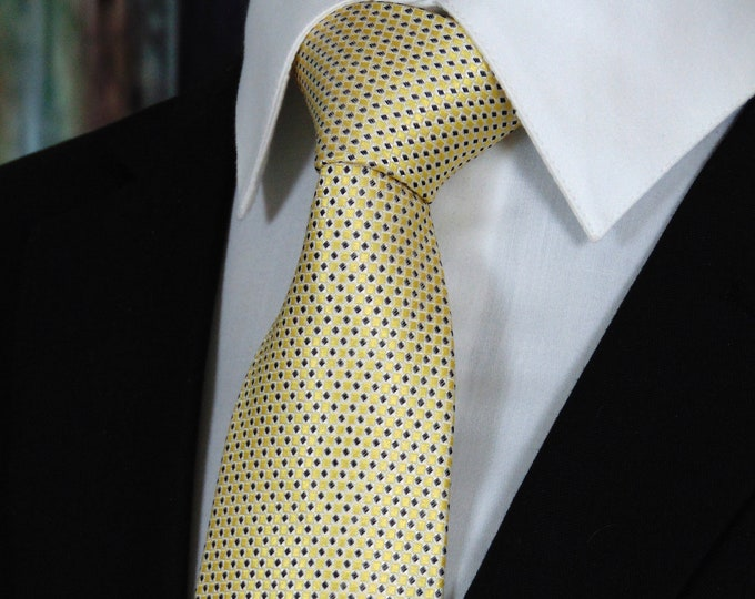 Gold Ties for Men – 100% Silk Mens Gold Necktie
