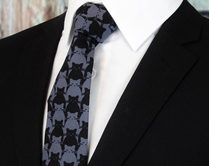 Ties with Cats – Mens Cat theme Necktie
