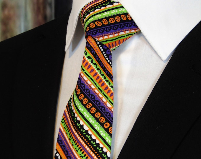 Halloween Neck Tie – Mens Colorful Ties for Halloween
