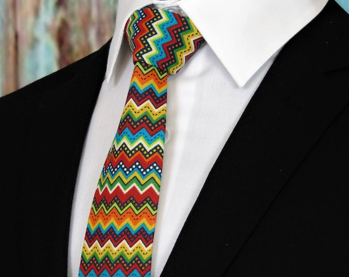 Cinco De Mayo Tie – Mens Colorful Neck Tie, Also available as a Skinny Tie and a Extra Long Tie.