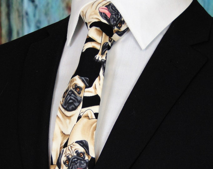 Ties with Dogs – Pug Necktie