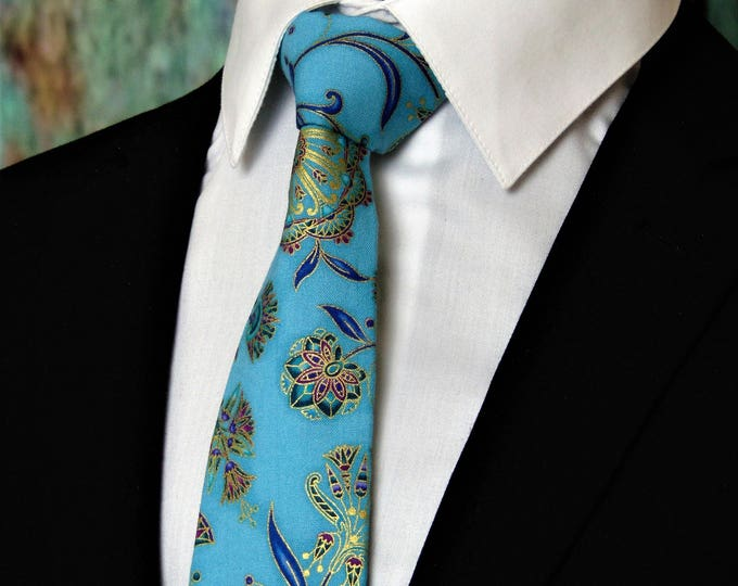 Ties for Father of the Bride – Mens Floral Necktie, Alos available as a Skinny Tie.