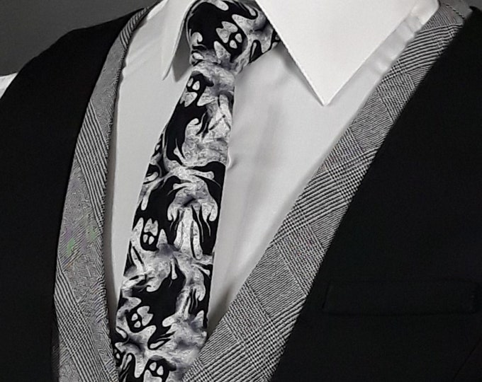 Ties with Ghost, Ghose Necktie, Halloween Ties