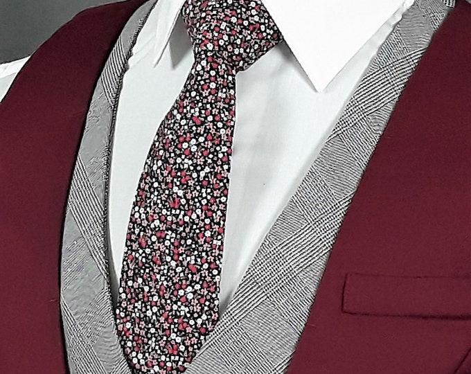 Floral Neck Tie, Mens Floral Ties, Necktie Floral Print