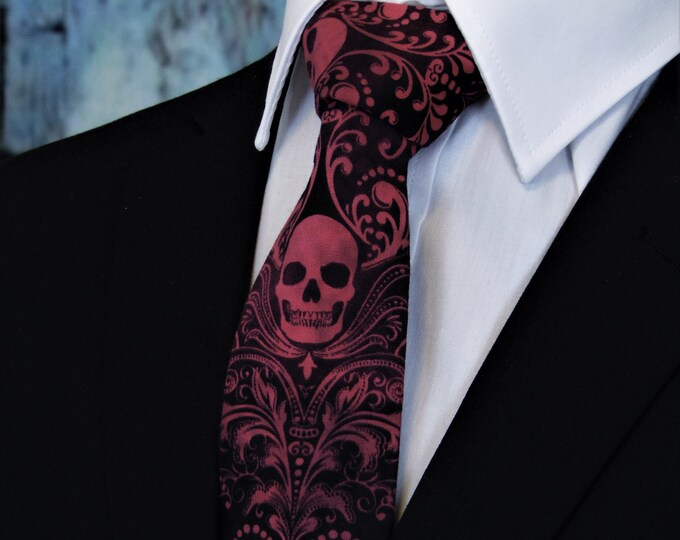 Skull Neck Tie – Skull Ties, Very Limited Production. Please read item description..