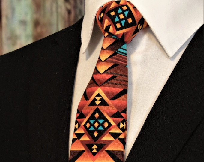 Indian Style Necktie – Necktie with Native American Design