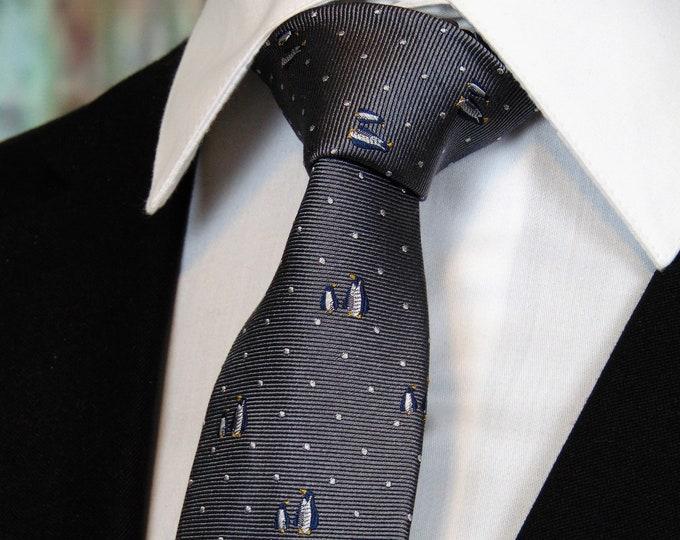 Penguin Tie – Mens Silk Pengiun Necktie
