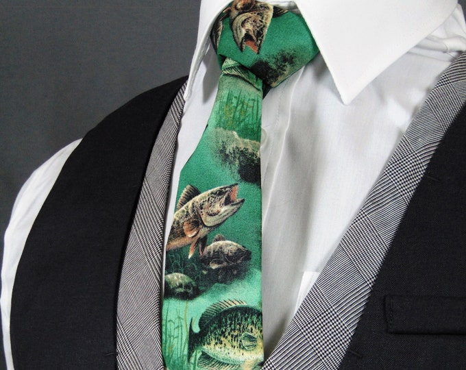 Fishing Necktie, Ties for Fisherman makes the perfect gift.