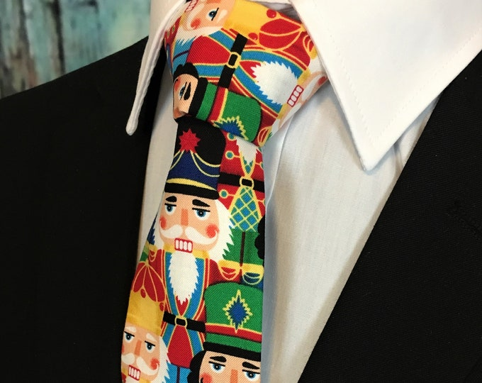 Nutcracker Tie – Mens Nutcracker Necktie for Christmas