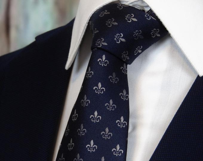 Silk Ties – Mens Fleur-de-lis Necktie