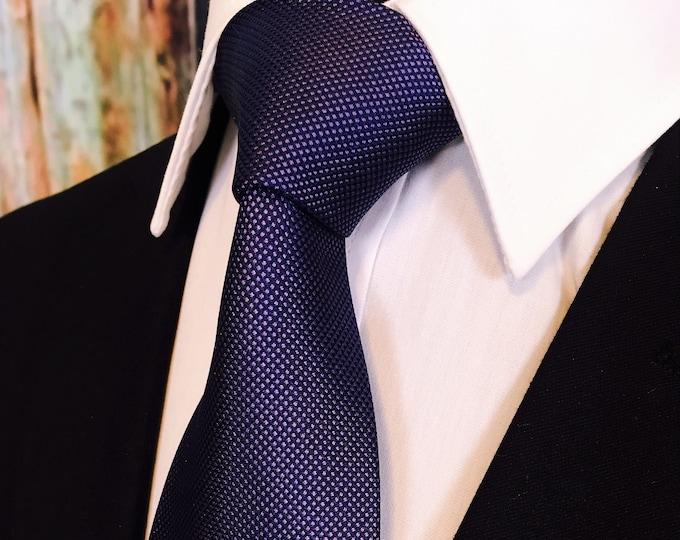 Groomsmen Ties – Navy Blue Silk Necktie