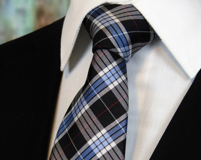 Plaid Necktie – Mens Silk Plaid Ties