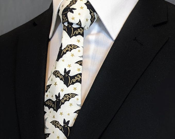 Bat Necktie – Halloween Ties with Bats