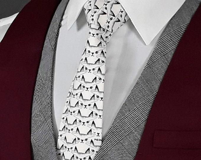 Ties with Cats – Mens Cat theme Necktie