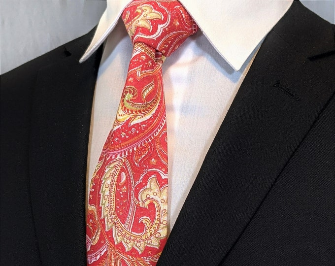 Paisley Necktie – Mens Paisley Tie available as a Extra Long Tie