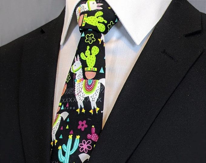 Llama Neckties – Christmas Llama Tie