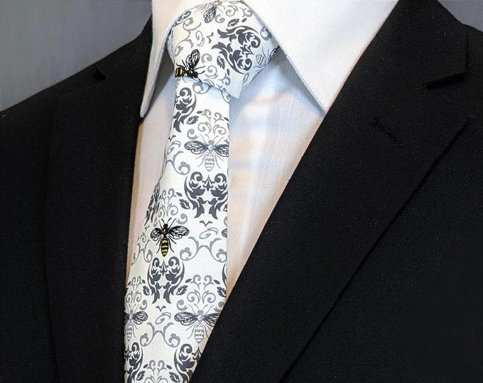 Bee Tie – Mens Necktie with Bees