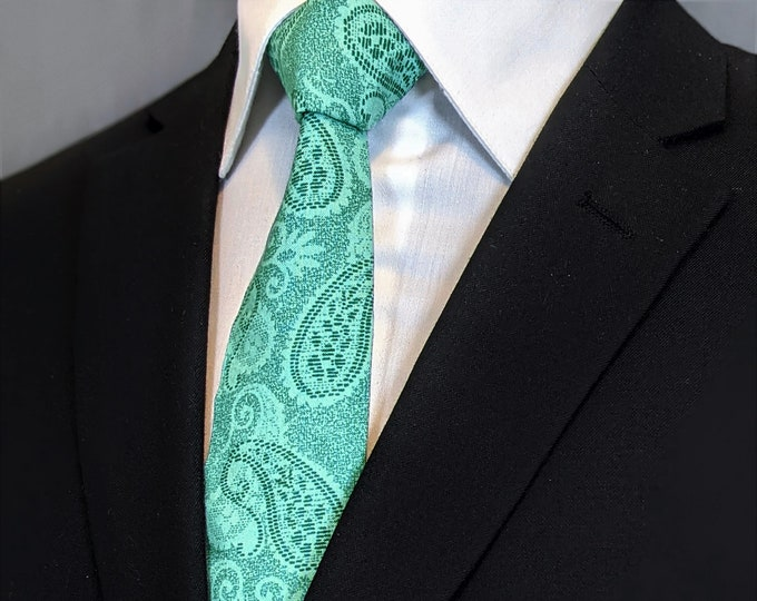 Green Paisley Necktie – Ties with Paisley Design