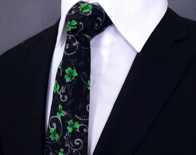 St Patricks Day Necktie – Mens St Patricks Day Ties, Available as a Skinny Tie and a Extra Long Tie.