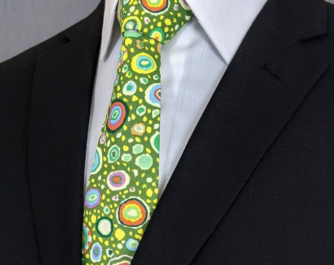 Mens Green Ties, Colorful Neckties, Contemporary Ties