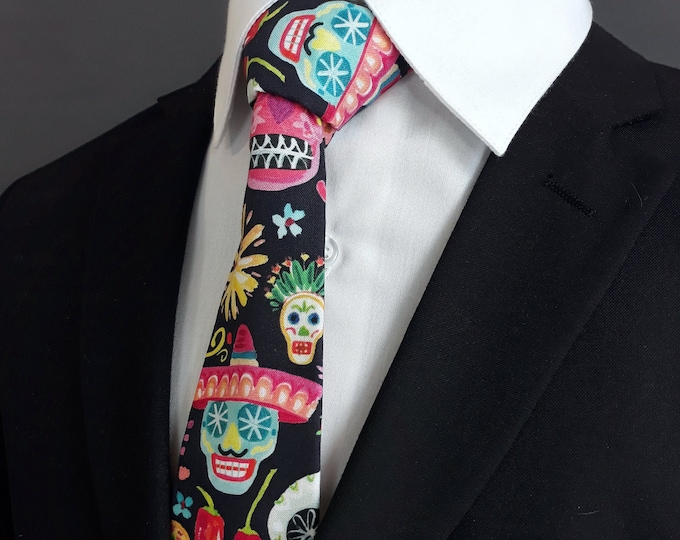 Colorful Skull Ties – Day of the Dead Neck Ties