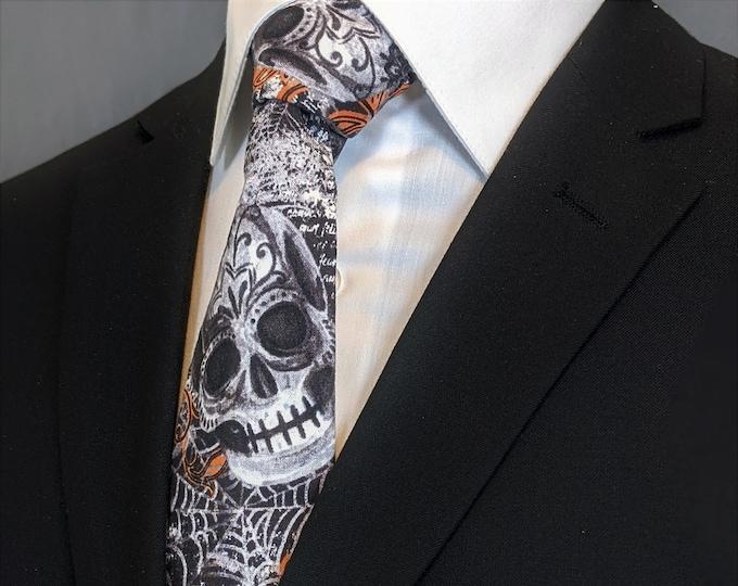 Neck Ties with Skulls – Gothic Halloween Ties