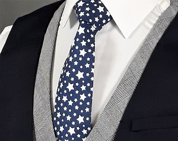 Ties with Stars, 4th of July, Independence Day Necktie