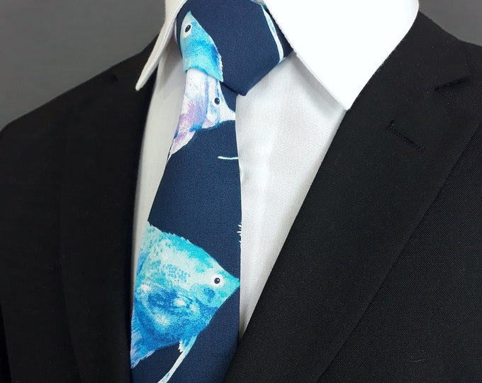 Ties with Fish – Mens Fish Motif Necktie
