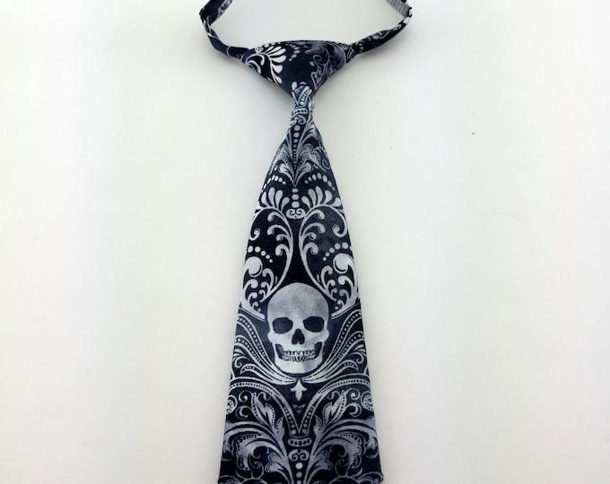 Toddler Tie – Baby Skull Necktie