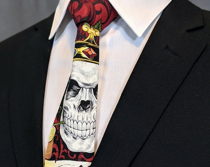Mens Necktie with Skull – Colorful Skull Mens Tie