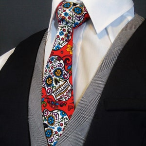 Giger inspired graphic and horror movie style necktie. Science fiction men/'s tie Alien from the abyss for your friend H R