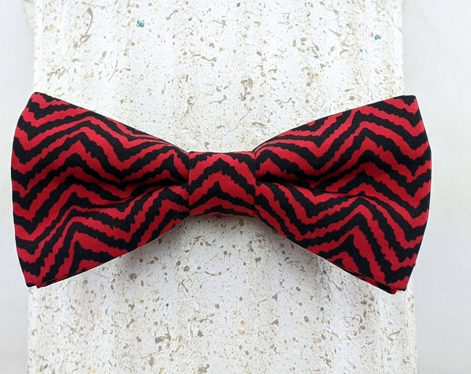Red Black Bow Tie – Red and Black Mens or Boys Bowtie, Limited production.