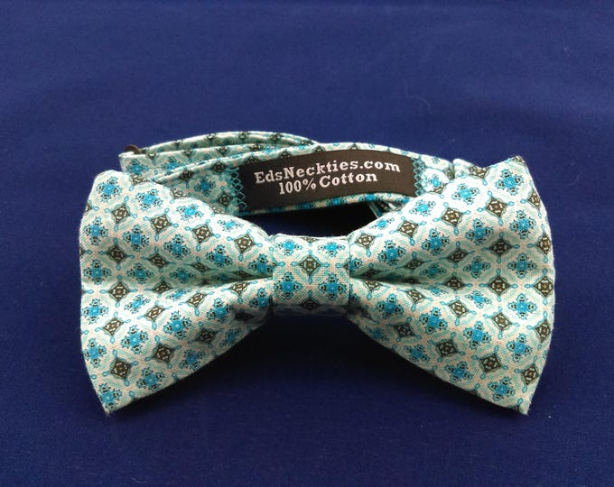Blue Bow Tie, Blue Bowtie, Mens Bow Tie, Mens Bowtie, Green, White, Cream, Blue, Black, Wedding, Fathers Day, Birthday, Gift, Dad, Christmas