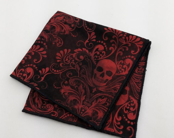 Pocket Square – Skull Pocket Square Only. Skull Necktie Not Included.