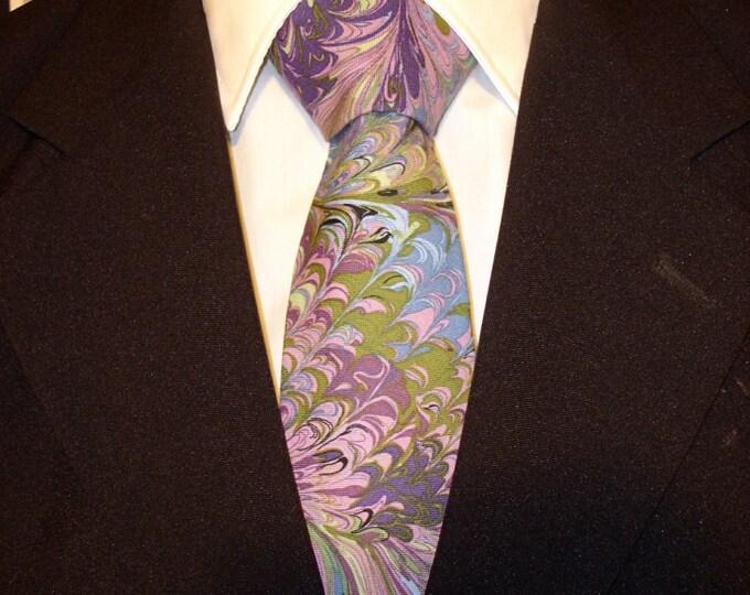 Peacock Necktie, Peacock Tie, Mens Necktie, Mens Tie, Skinny, Purple, Blue, Father, Dad, Fathers Day, Gift, Wedding, Tie, Christmas, Color