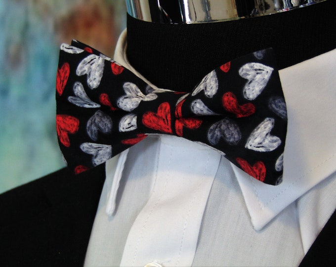 Valentines Day Bow Tie – Men or Childs Bow Tie for Valentines