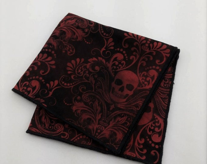 Pocket Square – Skull Pocket Square Only. Skull Necktie Not Included.