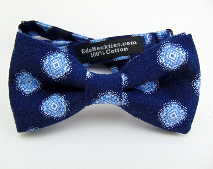 Blue Bow Tie, Blue Bowtie, Mens Bow Tie, Mens Bowtie, Navy Bow Tie, Navy Bowtie, Wedding, Fathers Day, Birthday, Gift, Father, Navy, Prom