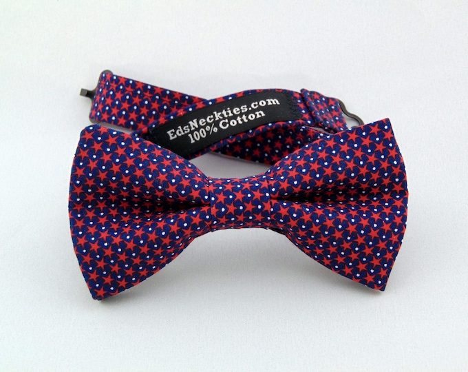 4th of July Bow Tie, 4th of July Bowtie, Mens Bow Tie, Mens Bowtie, Red, White, Blue, Independence Day, Wedding, Father, Birthday, Gift, Dad