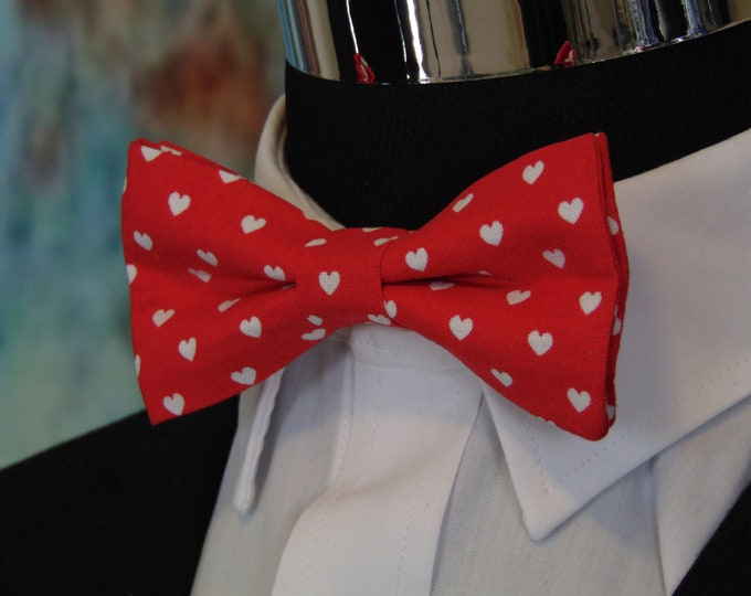 Valentines Bow Tie – Men or Childs Red Valentines Day Bow Tie