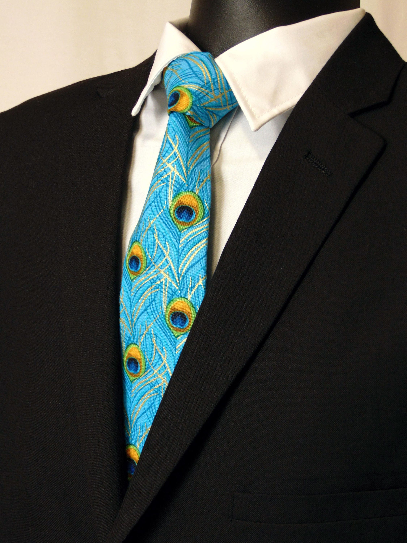0b40dc3426ef Peacock Wedding – Blue Peacock Tie for Men, Also Available as a ...