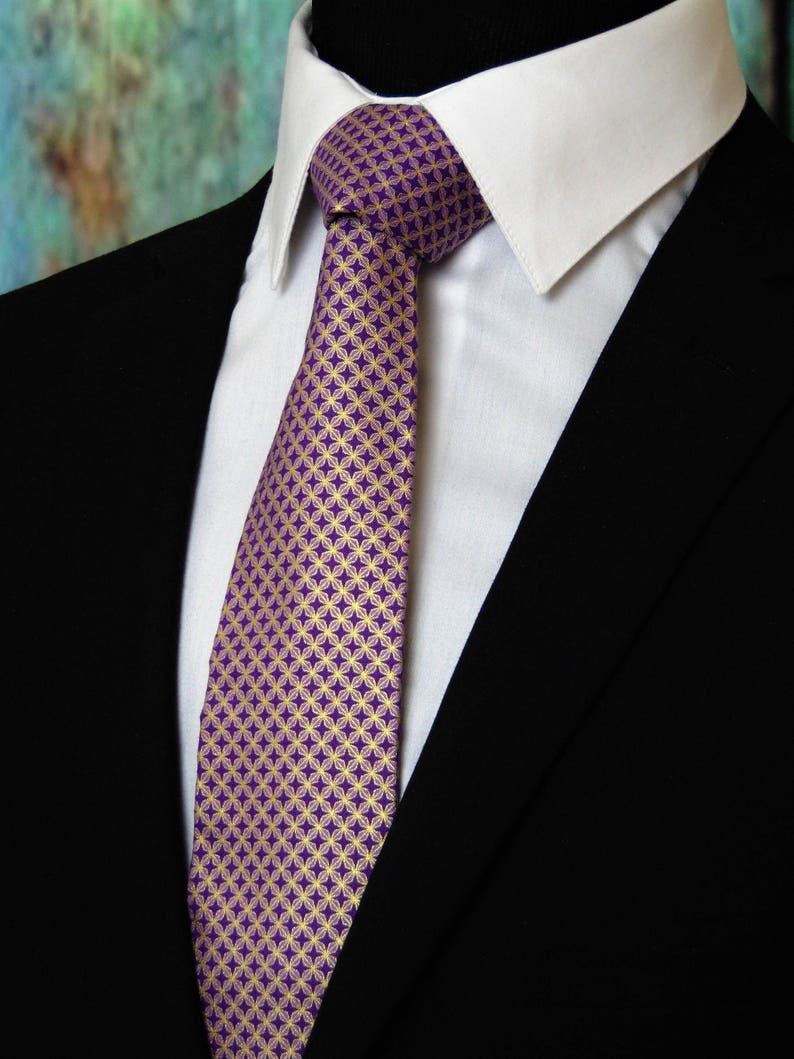 c8e886a6733f Mens Neckties Mens Purple and Gold Metallic Neck Tie Also | Etsy