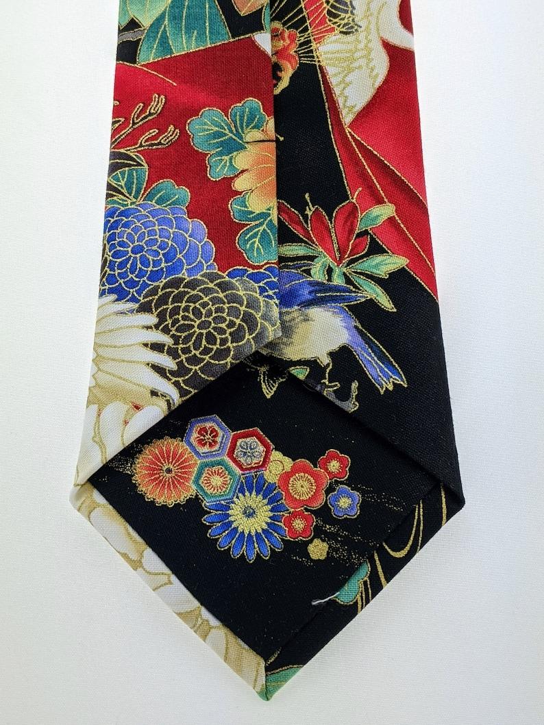 Geisha Necktie \u2013 Japanese Style Tie with Geisha