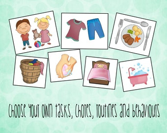 Kids Clipart, Choose your own, PERSONAL USE, DIY Reward Chart, toddler chart, visual aids, Kids Chores, kids planner, Autism, Pictures