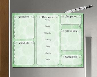 Kühlschrank Planer : Wochenplaner kühlschrank planer magnet aufgabe listen etsy