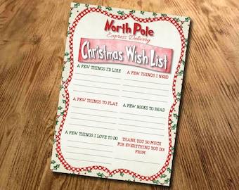 Christmas Gift List, Kids Santa present list, Gift List, Xmas Letter, Father Christmas letter, Printable, Download, Digital File