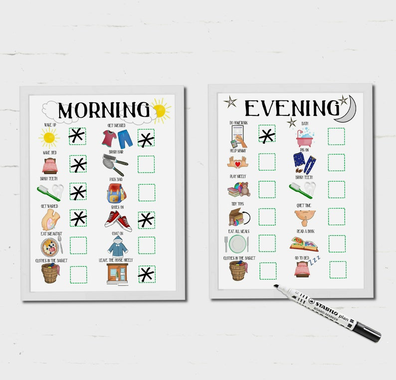 Kids Morning Routine Kids Evening Routine Bed time routine image 1