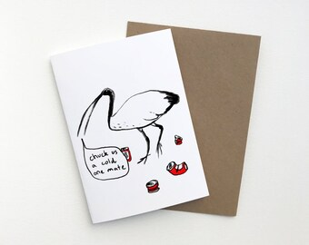 A6 Chill Ibis Greeting Card