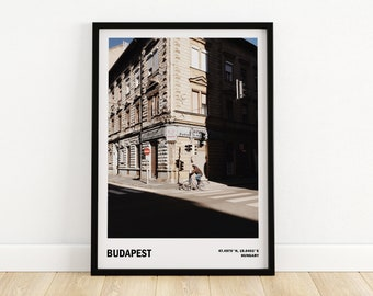 Budapest city print, Travel photography, Gift from Hungary, Budapest wall art, Street Photography, Architecture poster